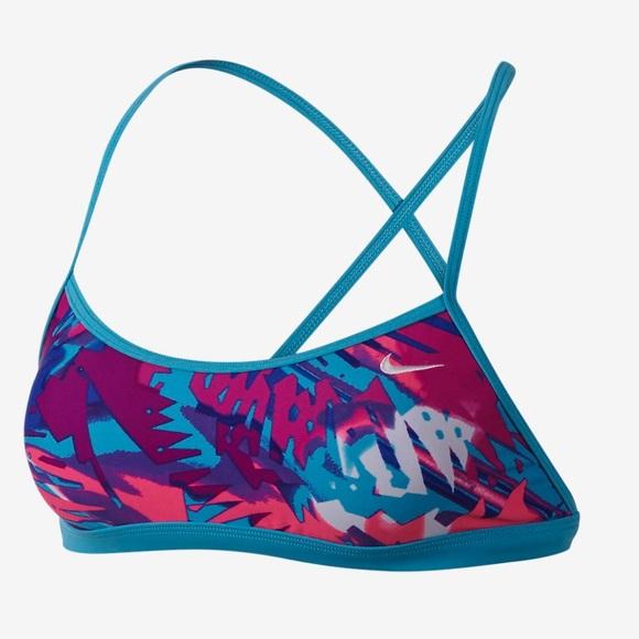 70e11030 Nike Tropical Crossback Sports Bra swimsuit NWT